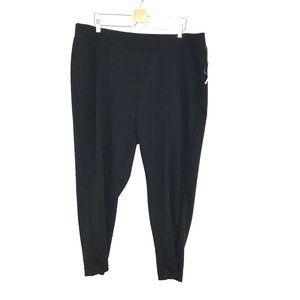 NWT Catherines crepe knit slim leg dress pants 2x